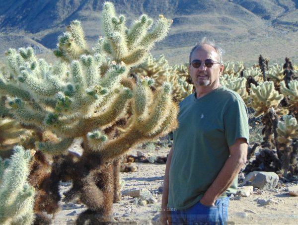 Mark Bowles in desert